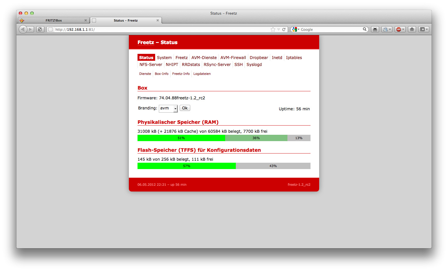 Customize your Fritzbox to allow traffic-shaping | www jzab de