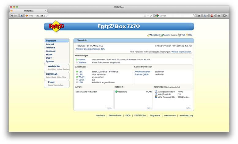 Frtizbox GUI